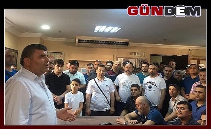 Metin Ercan'dan Erdemir çalışanlarına ziyaret