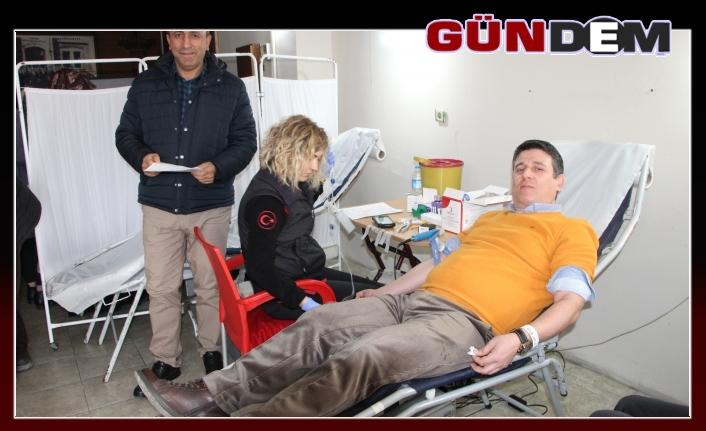 Kan bağışı kampanyası yoğun ilgi gördü...