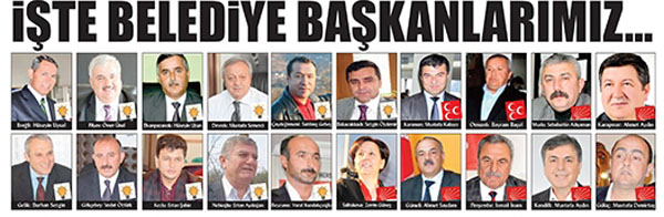 AK PARTİ ZONGULDAK'TA 11, CHP 12, MHP İSE 2 BELEDİYE KAZANDI.