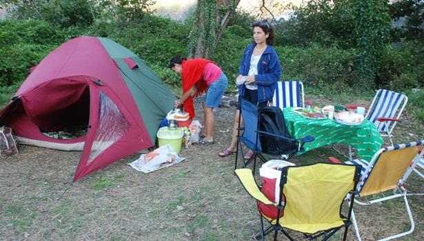 Çevreciler, kireçlik bölgesinde çadır kurdu