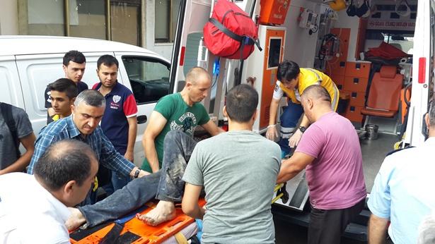 15 Metreden asansör boşluğuna düşen işçi ağır yaralandı