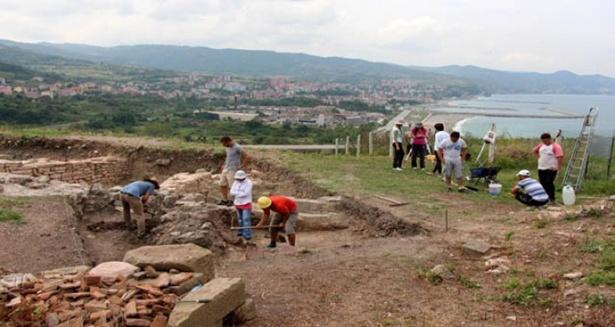 Batı Karadeniz'in Efesinde kazı çalışmaları sona erdi