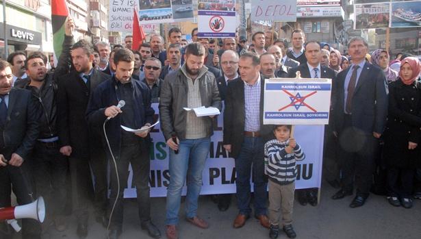 Cuma namazı sonrası İsrail protesto edildi