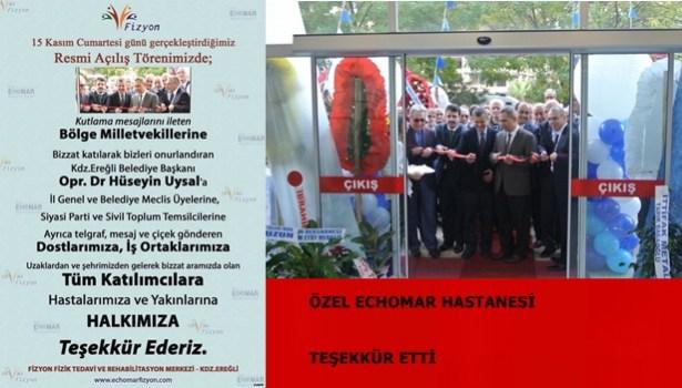 ECHOMAR TEŞEKKÜR ETTİ