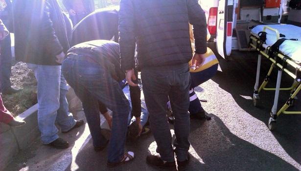 Ereğli´ de Tır motosiklete çarptı: 1 Yaralı