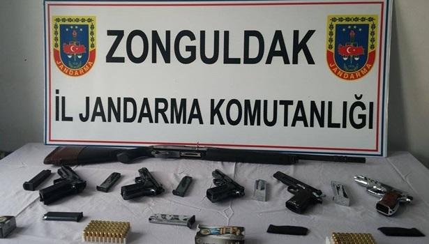 Alaplı Jandarma'dan silah operasyonu