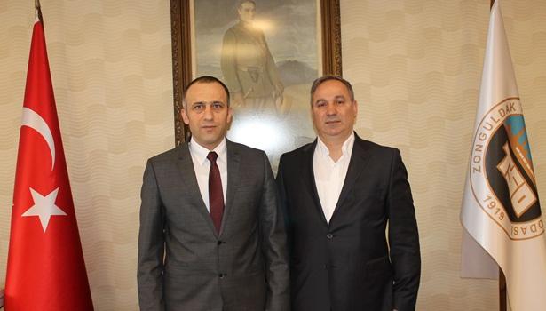 Çebi, ZTSO Başkanı Demir'i ziyaret etti