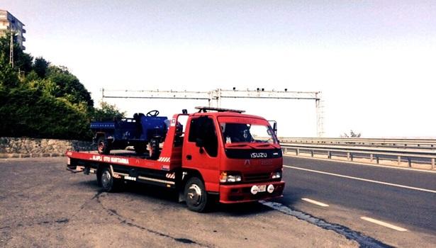 7 yolcuyla yakalandı, trafikten men edildi