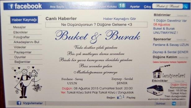 Çiftin ilginç düğün davetiyesi