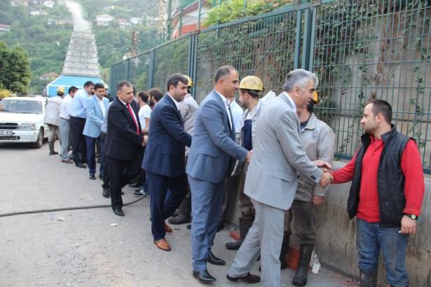 GMİS Yönetimi Üzülmezde madenciyi ziyaret etti