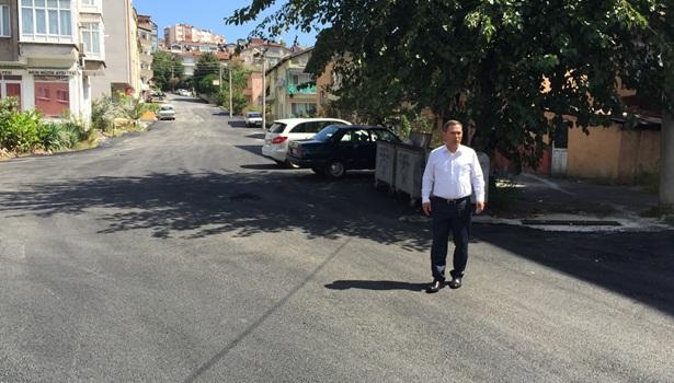 Başkan Uysal,Asfaltlanan alanı inceledi