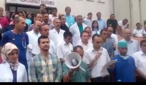 Alaplı devlet hastanesi çalışanları teröre karşı tek ses tek yürek