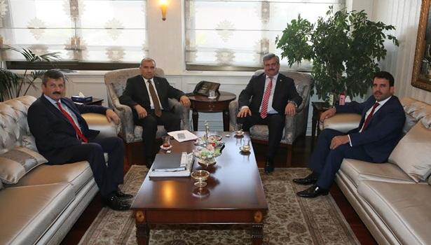 Çaturoğlu Bakan Alaboyan ile 15 günde ikinci görüşmeyi yaptı