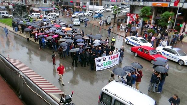 Terör saldırısı Zonguldak'ta da protesto edildi