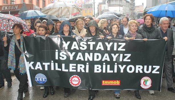 Zonguldak´ta terör protesto edildi