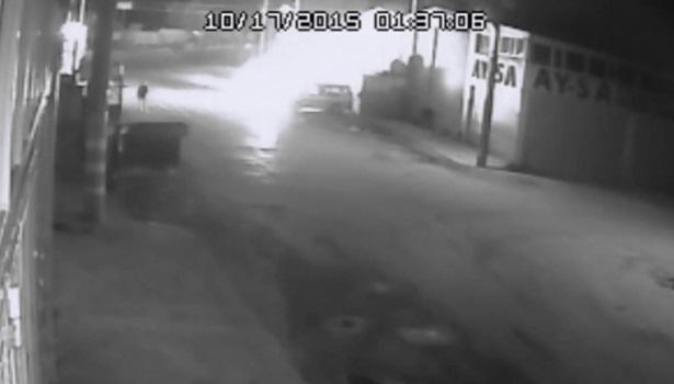 Ereğli´deki otomobilin kundaklanma anı güvenlik kamerasında