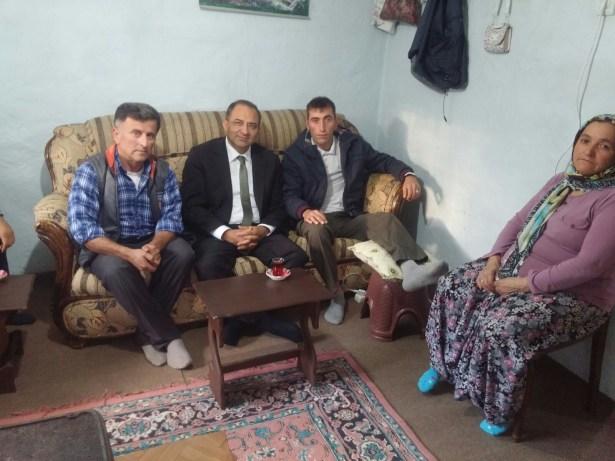 Vali Kaban,Gazi Askeri evinde  ziyaret etti
