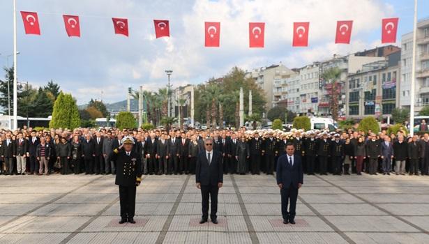 Gazi Mustafa Kemal Atatürk ölüm yıl dönümünde Kdz Ereğli´de törenle anıldı
