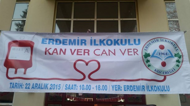 Erdemir ilkokulu´ndan Kan bağışı kampanyası
