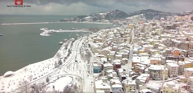 Karlar altındaki güzel Ereğli´miz,İşte O görüntüler