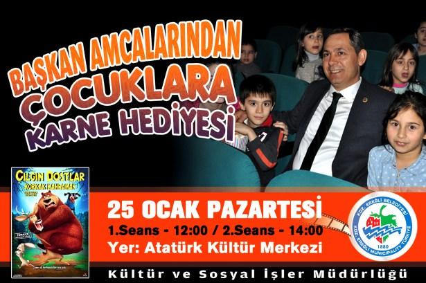 Başkan Uysal'dan çocuklara karne hediyesi