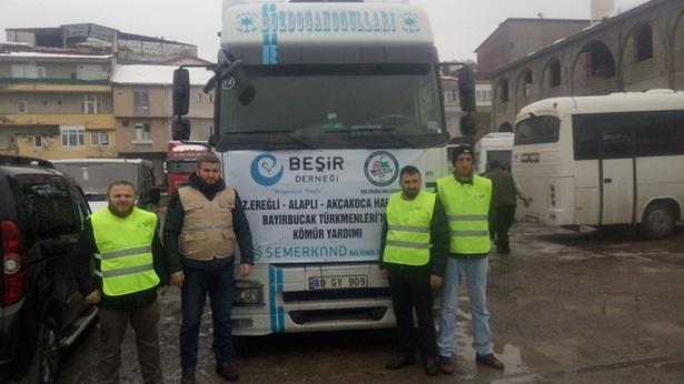 Alaplı´dan Bayırbucak Türkmenlerine yardım