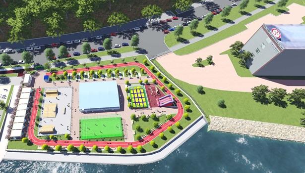 Spor parkı yapım çalışmalarına başlandı