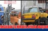 Zonguldak'ta hurdaya ayrılan araçlar