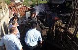 Tek katlı evin çatısında yangın çıktı