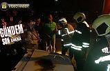 Yangına beton mikseri müdahale etti