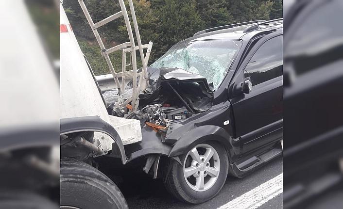 TEM Otoyolunda Kaza, 2 yaralı