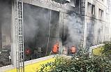Atatürk Devlet Hastanesi inşaatında yangın!..