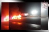 Cezaya kızdı,otomobilini yaktı!