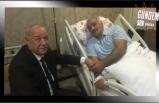 Akdemir, hasta yatağında ziyaret etti
