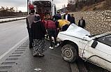 Otomobil takla attı : 4 yaralı