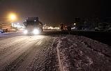 Düzce- Zonguldak yolu 'kar'a teslim!