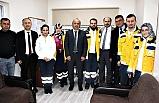 Sağlık Müdürü, 112 emekçilerini ziyaret etti