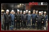 Başkan fabrikada, işçiler Sendikada!