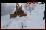 Ani kar yağışı yüzünden 15 köy yolu kapandı