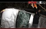 Akçakoca'da otomobil devrildi!..