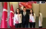 Milli Sporculardan Kaymakam Keçeli' ye teşekkür ziyareti