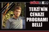Terzi'nin cenaze programı belli
