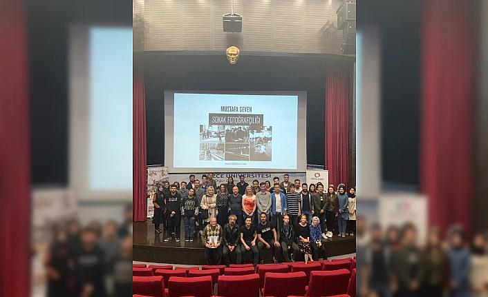 Düzce Üniversitesi öğrencilerinden Mustafa Seven'e yoğun ilgi