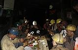 Madenciler ilk sahurlarını yaptı!..