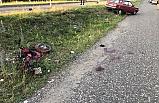 Otomobil ile motosiklet çarpıştı; 1 ölü