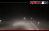 Zonguldak-Ereğli yolunu sis kapladı