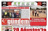 25 TEMMUZ 2019 PERŞEMBE GÜNDEM GAZETESİ