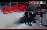 Seyir halindeki otomobil alev aldı!..