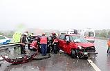 Şiddetli yağış kazayı getirdi; 3 yaralı