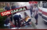 Genç Motorsikletiyle kaldırıma çarptı, canından oluyordu!..